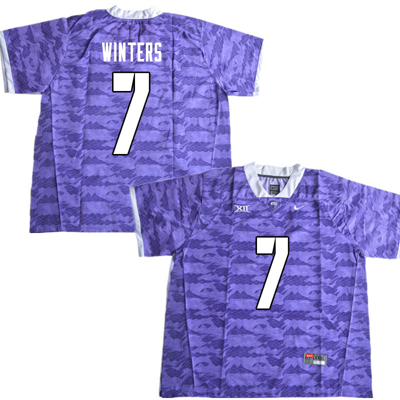 Men #7 Dee Winters TCU Horned Frogs College Football Jerseys Sale-Limited Purple