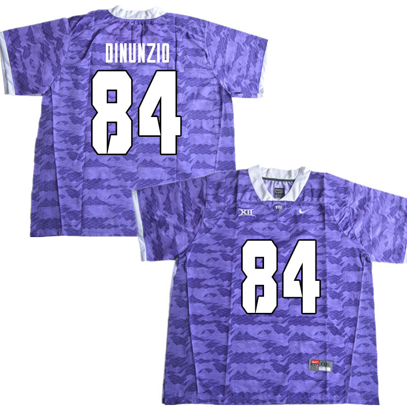Men #84 Dominic DiNunzio TCU Horned Frogs College Football Jerseys Sale-Limited Purple