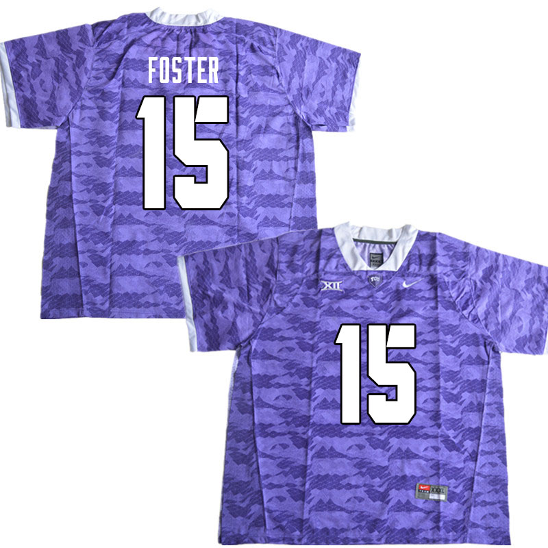 Men #15 Josh Foster TCU Horned Frogs College Football Jerseys Sale-Limited Purple