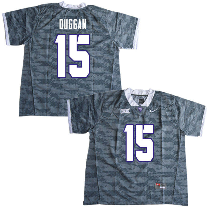 Men #15 Max Duggan TCU Horned Frogs College Football Jerseys Sale-Gray