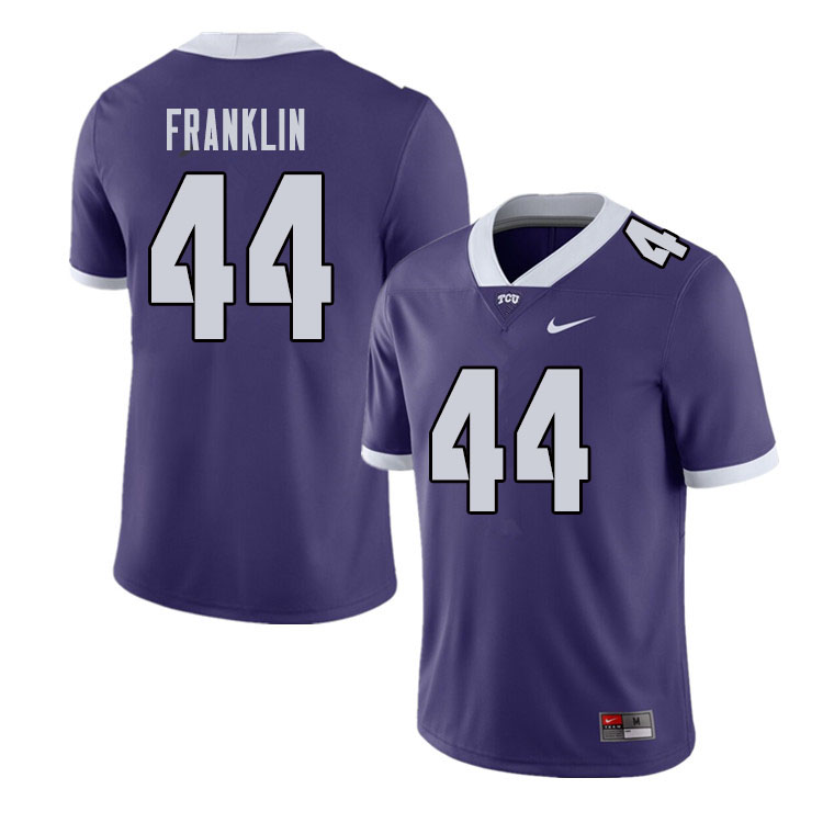 Men #44 Michael Franklin TCU Horned Frogs College Football Jerseys Sale-Purple