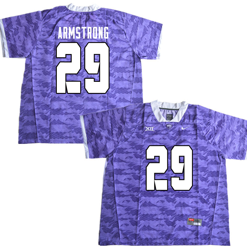 Men #29 Thomas Armstrong TCU Horned Frogs College Football Jerseys Sale-Limited Purple