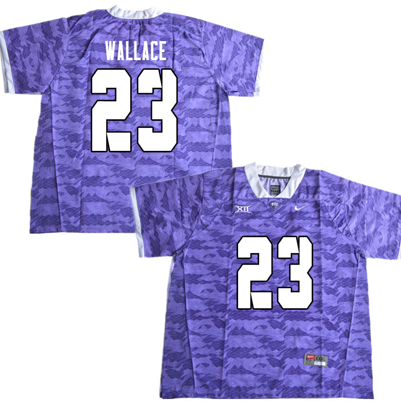 Men #23 Tony Wallace TCU Horned Frogs College Football Jerseys Sale-Limited Purple