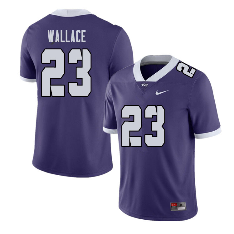 Men #23 Tony Wallace TCU Horned Frogs College Football Jerseys Sale-Purple