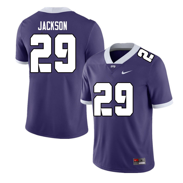 Men #29 Sterling Jackson TCU Horned Frogs College Football Jerseys Sale-Purple