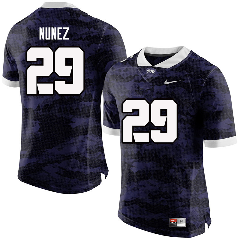Men #29 Adam Nunez TCU Horned Frogs College Football Jerseys-Purple