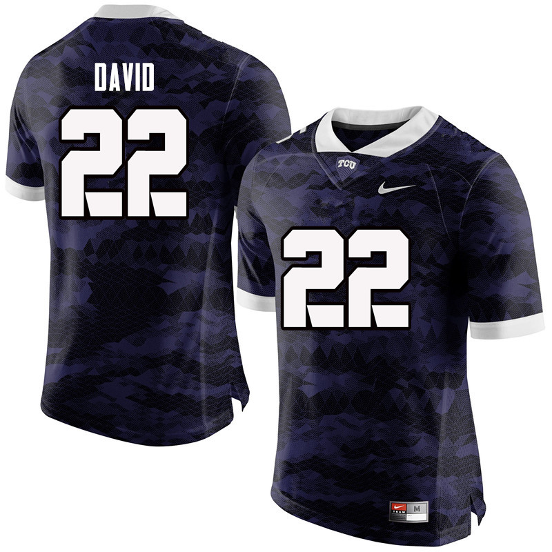 Men #22 Andrew David TCU Horned Frogs College Football Jerseys-Purple