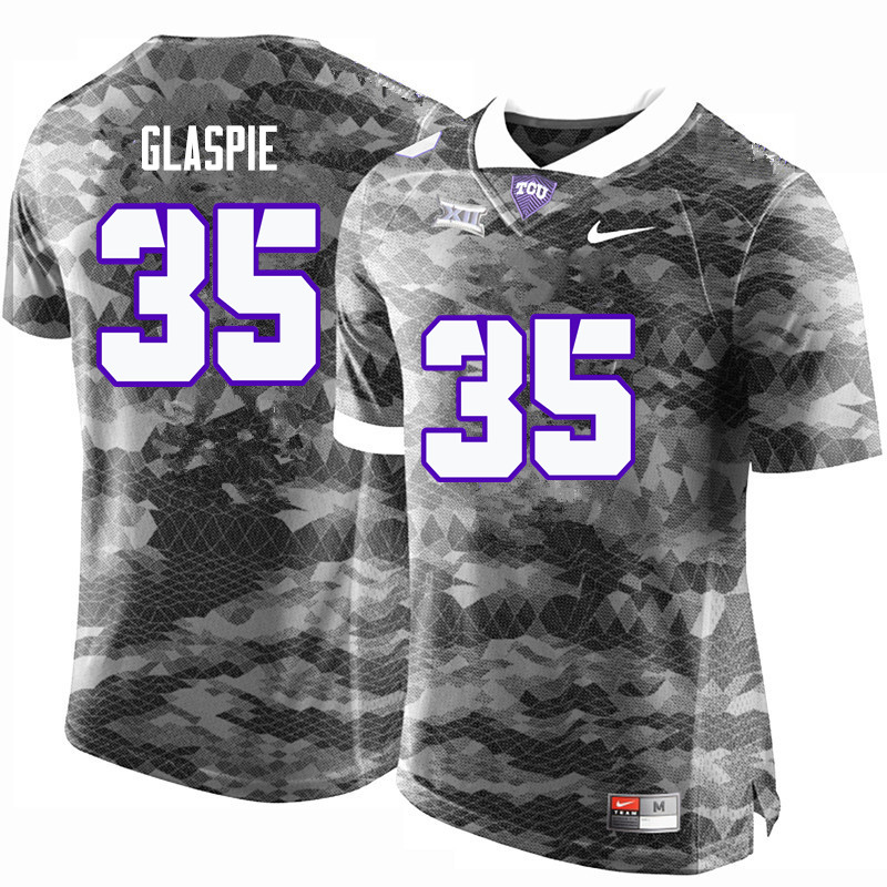 Men #35 Armanii Glaspie TCU Horned Frogs College Football Jerseys-Gray