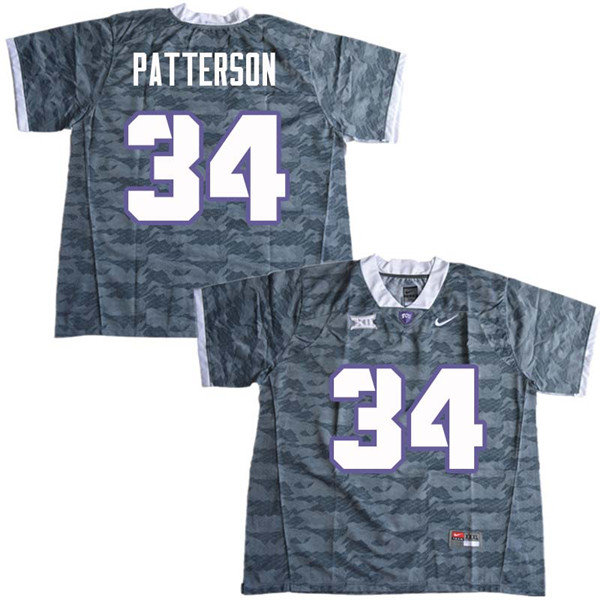 Men #34 Blake Patterson TCU Horned Frogs College Football Jerseys Sale-Gray