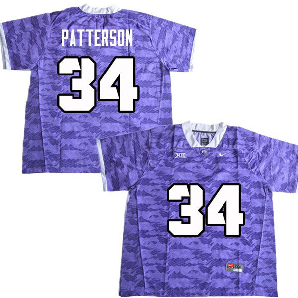 Men #34 Blake Patterson TCU Horned Frogs College Football Jerseys Sale-Purple