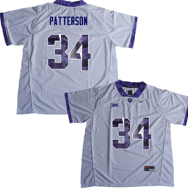 Men #34 Blake Patterson TCU Horned Frogs College Football Jerseys Sale-White