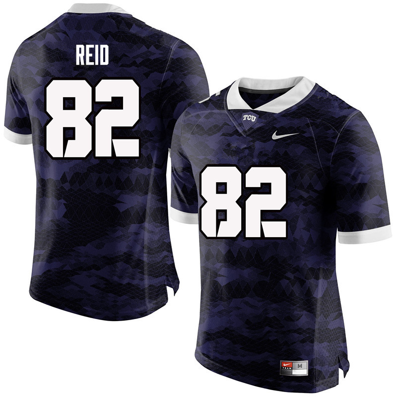 Men #82 Charlie Reid TCU Horned Frogs College Football Jerseys-Purple