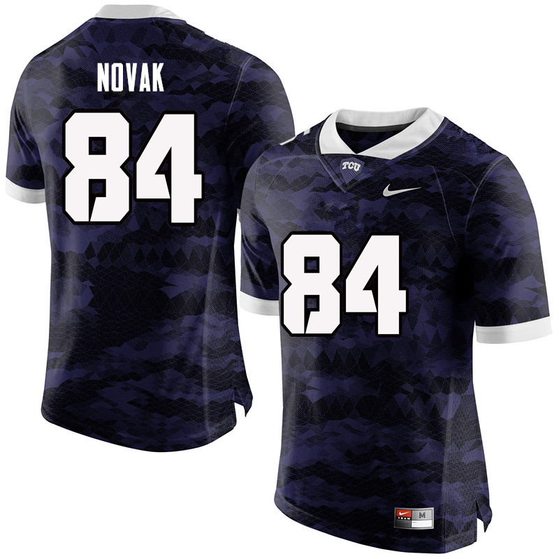 Men #84 Cole Novak TCU Horned Frogs College Football Jerseys-Purple