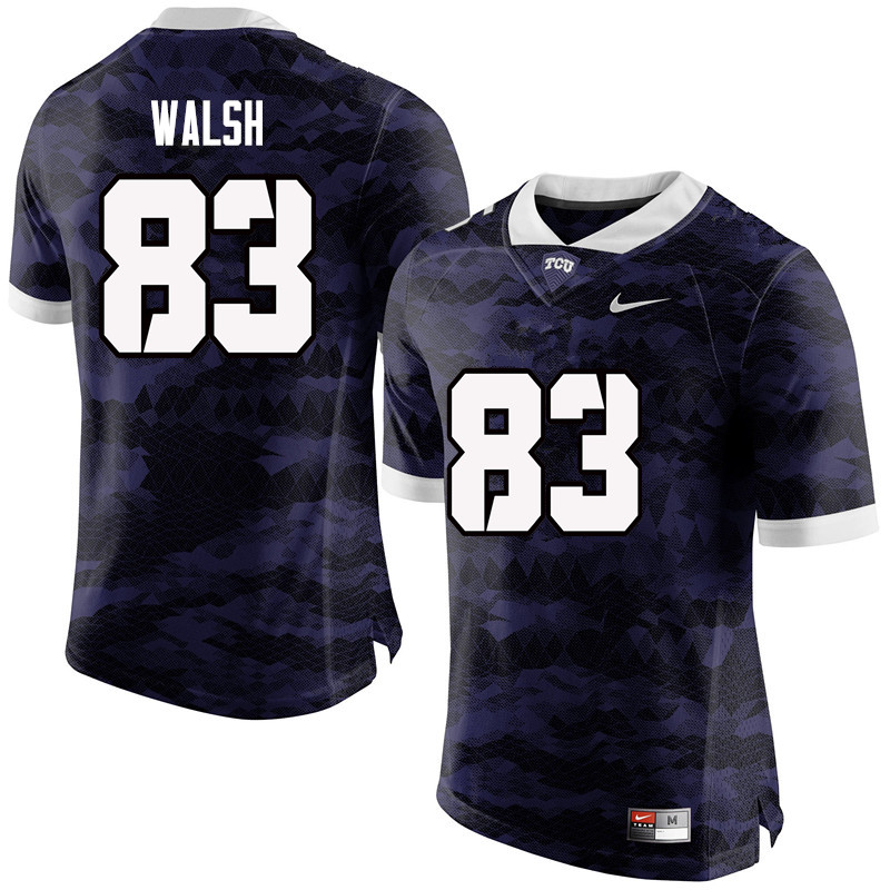 Men #83 Daniel Walsh TCU Horned Frogs College Football Jerseys-Purple