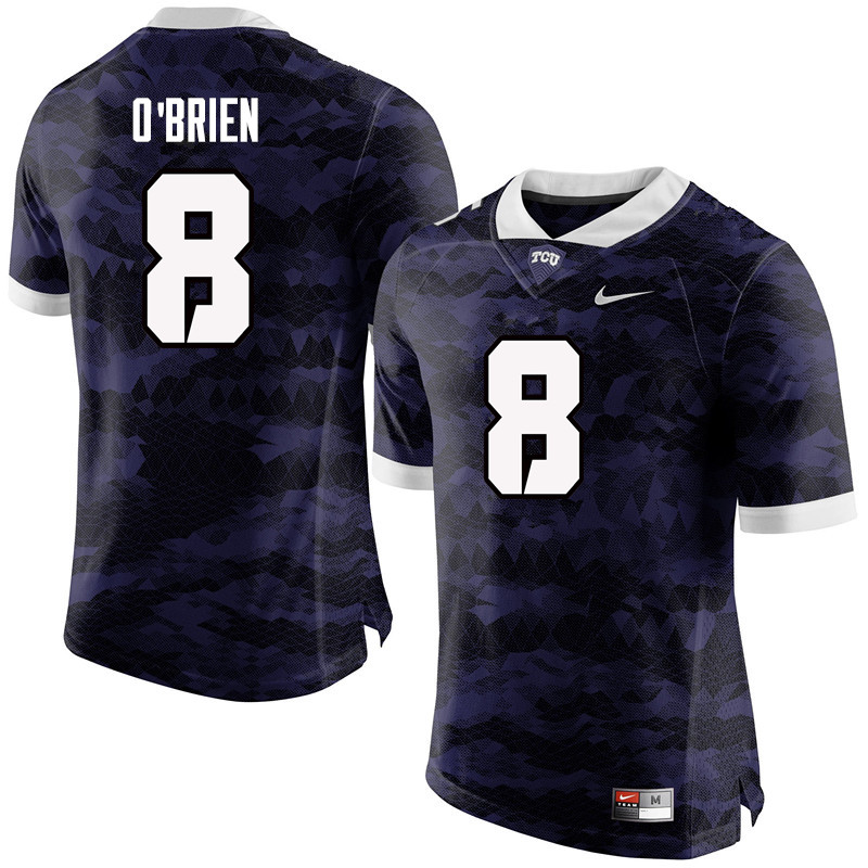 Men #8 Davey O'Brien TCU Horned Frogs College Football Jerseys-Purple