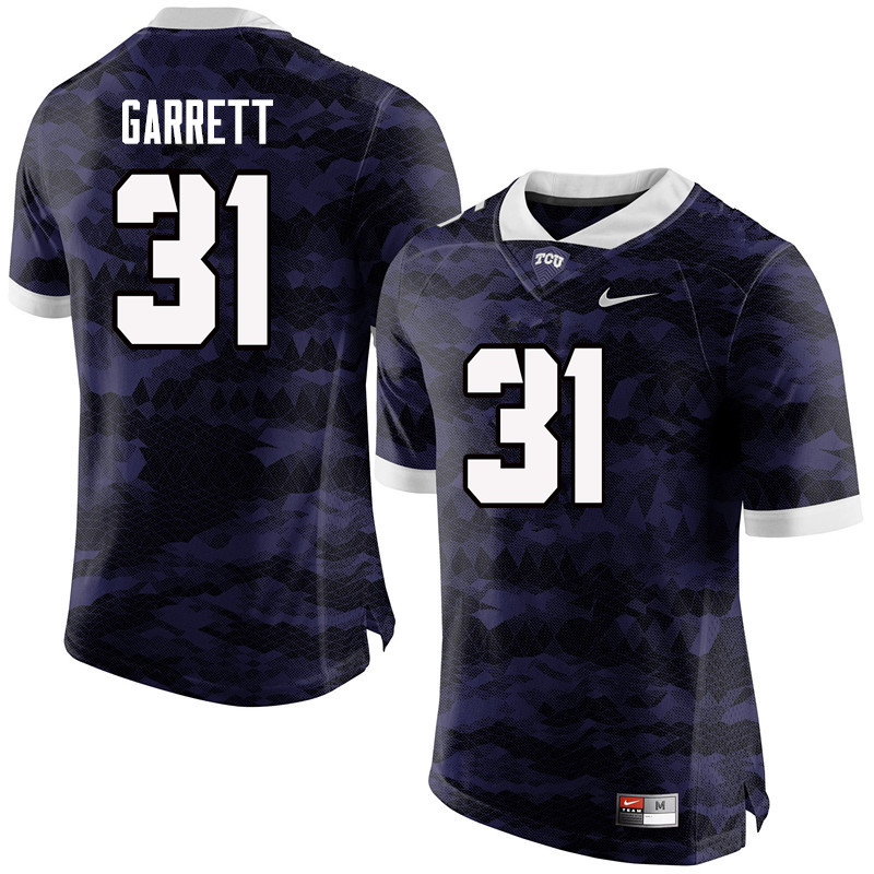 Men #31 Delenis Garrett TCU Horned Frogs College Football Jerseys-Purple