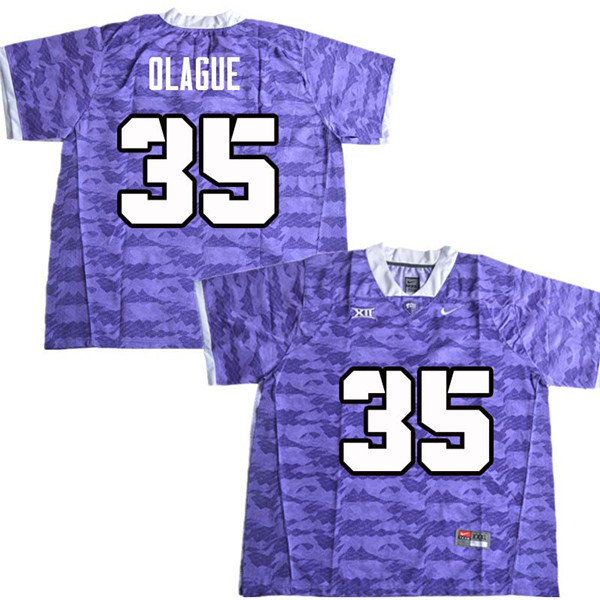 Men #35 Elias Garcia Olague TCU Horned Frogs College Football Jerseys Sale-Purple
