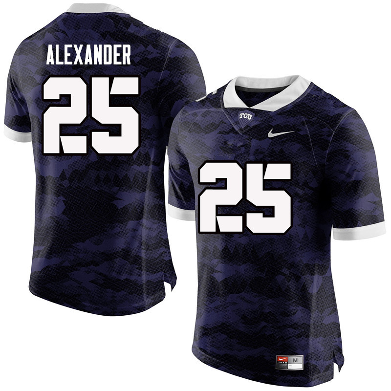 Men #25 Isaiah Alexander TCU Horned Frogs College Football Jerseys-Purple