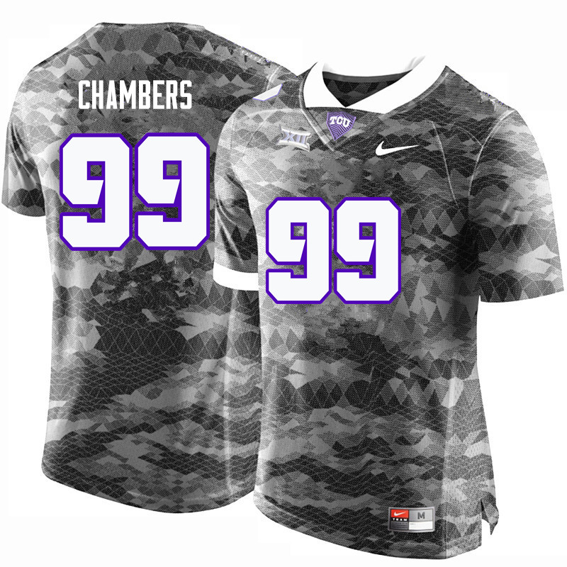 Men #99 Isaiah Chambers TCU Horned Frogs College Football Jerseys-Gray