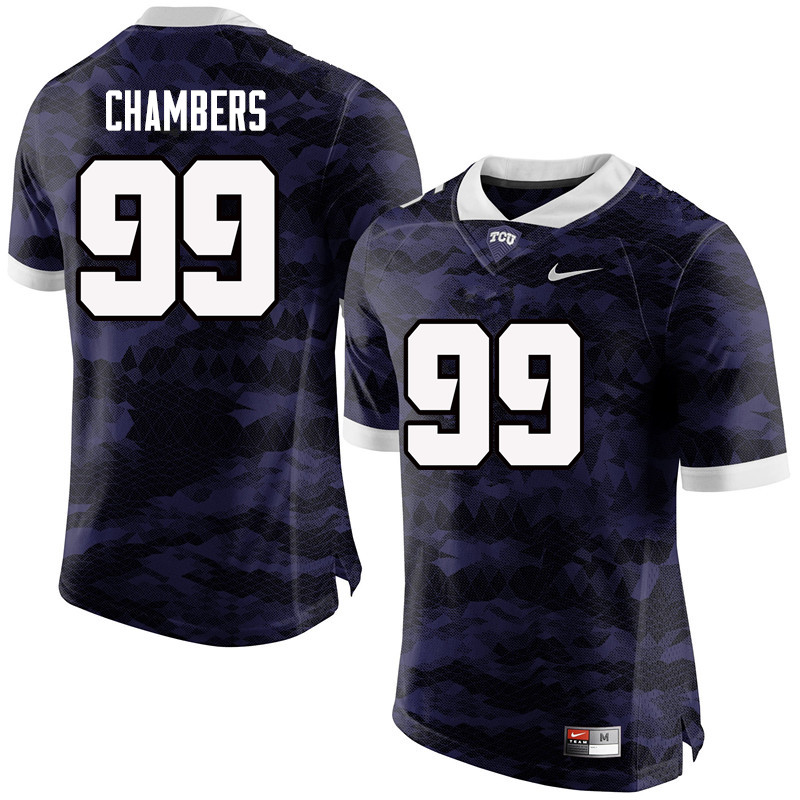 Men #99 Isaiah Chambers TCU Horned Frogs College Football Jerseys-Purple