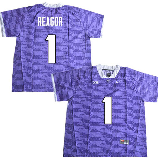 Men #1 Jalen Reagor TCU Horned Frogs College Football Jerseys Sale-Purple