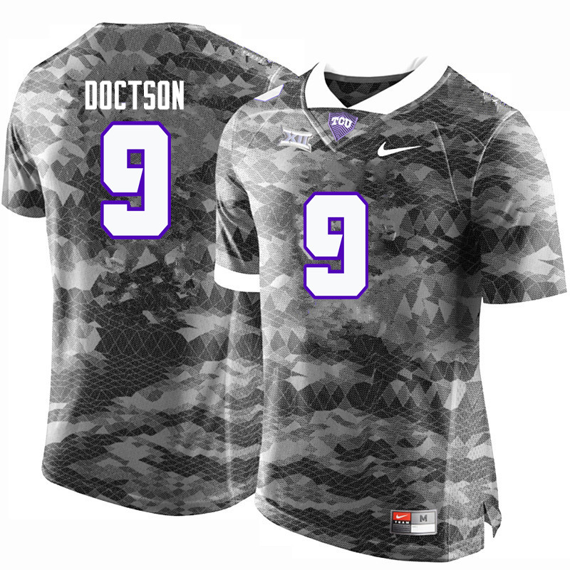 Men #9 Josh Doctson TCU Horned Frogs College Football Jerseys-Gray