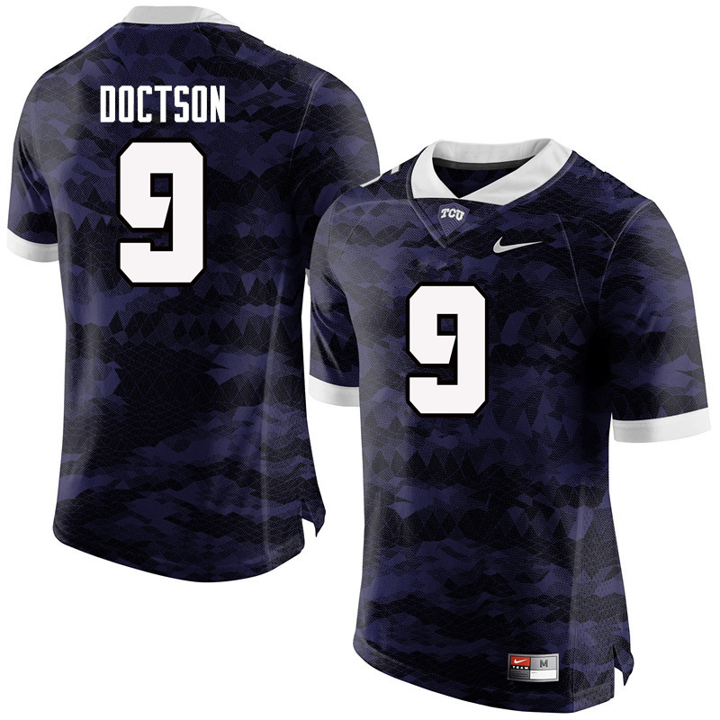 Men #9 Josh Doctson TCU Horned Frogs College Football Jerseys-Purple