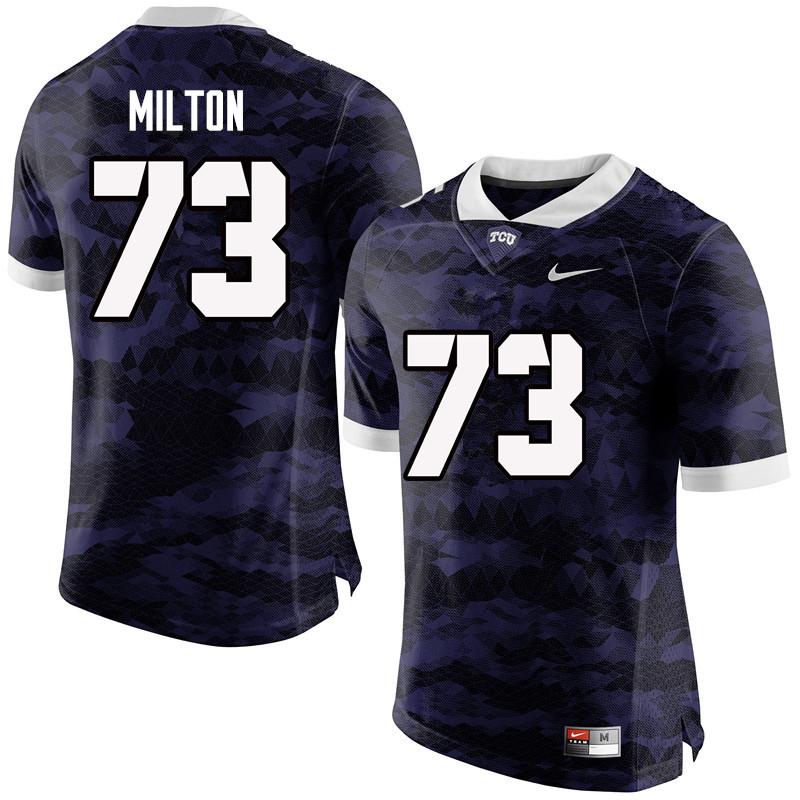 Men #73 Jozie Milton TCU Horned Frogs College Football Jerseys-Purple