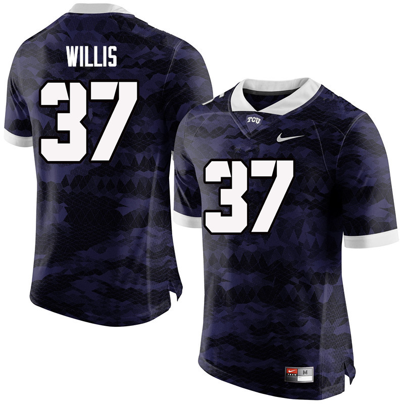 Men #37 Kade Willis TCU Horned Frogs College Football Jerseys-Purple