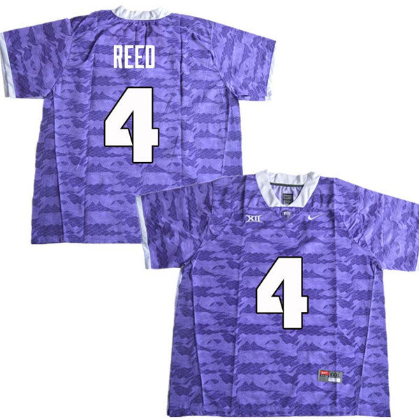 Men #4 Keenan Reed TCU Horned Frogs College Football Jerseys Sale-Purple