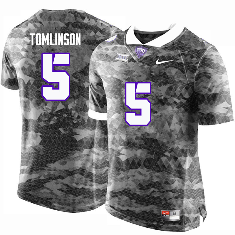 Men #5 LaDainian Tomlinson TCU Horned Frogs College Football Jerseys-Gray