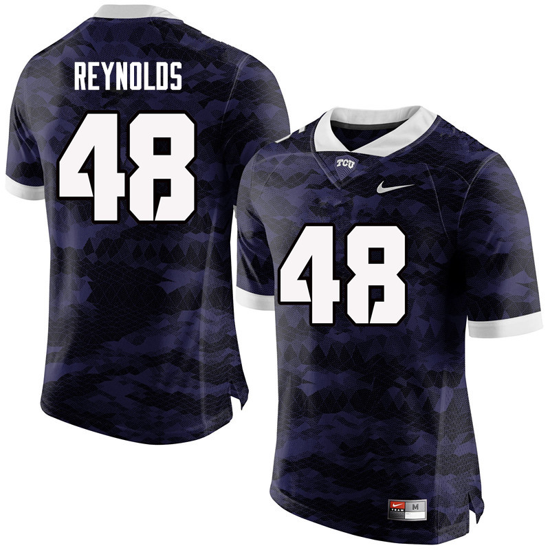 Men #48 Lucas Reynolds TCU Horned Frogs College Football Jerseys-Purple
