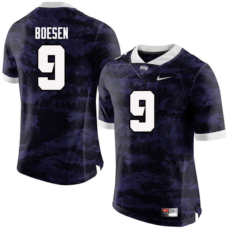 Men #9 Matt Boesen TCU Horned Frogs College Football Jerseys-Purple