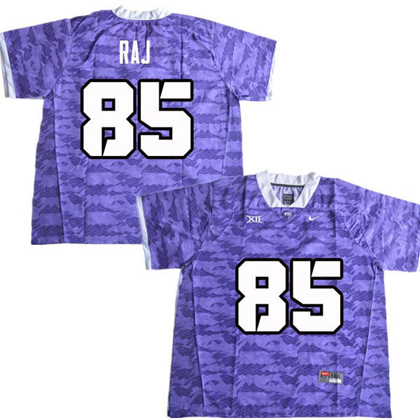 Men #85 Niven Raj TCU Horned Frogs College Football Jerseys Sale-Purple