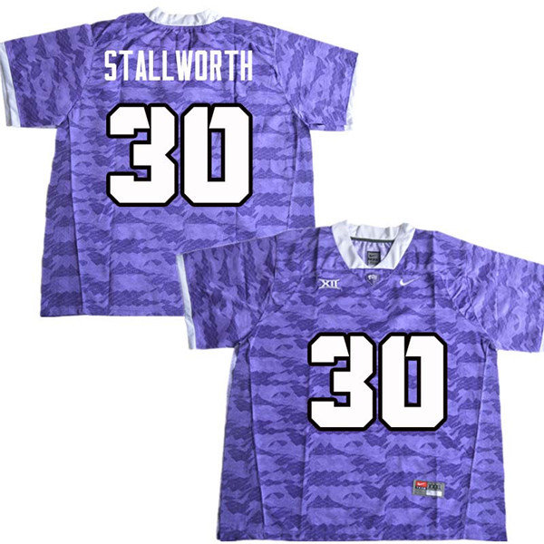 Men #30 Omega Stallworth TCU Horned Frogs College Football Jerseys Sale-Purple