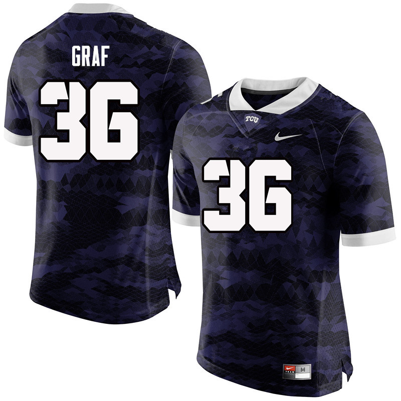 Men #36 Ryan Graf TCU Horned Frogs College Football Jerseys-Purple