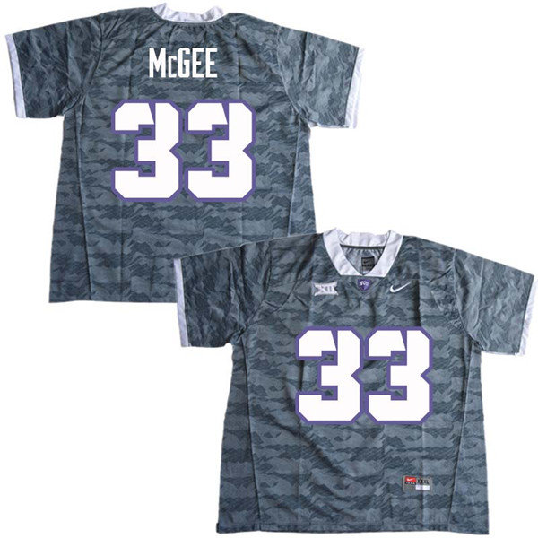 Men #33 Ryan McGee TCU Horned Frogs College Football Jerseys Sale-Gray