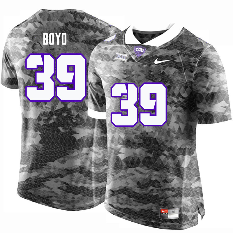 Men #39 Stacy Boyd TCU Horned Frogs College Football Jerseys-Gray
