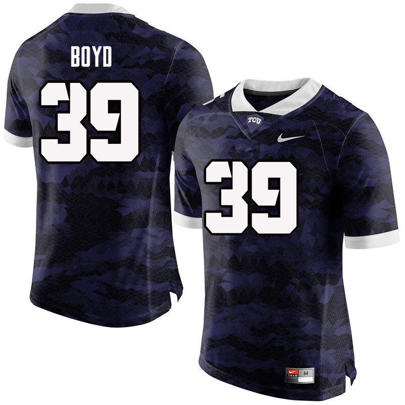 Men #39 Stacy Boyd TCU Horned Frogs College Football Jerseys-Purple