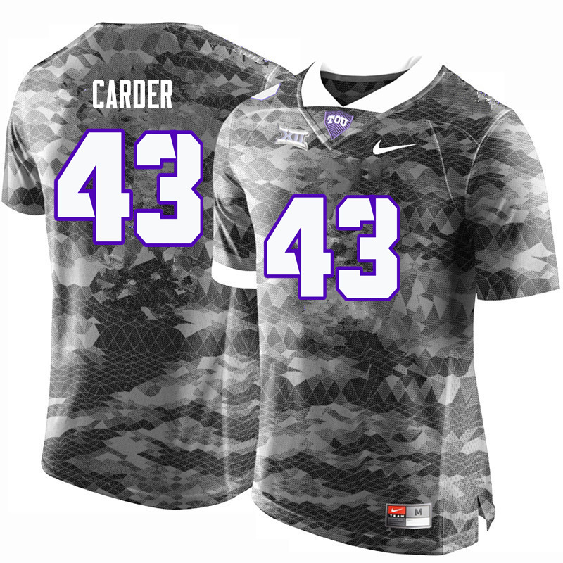 Men #43 Tank Carder TCU Horned Frogs College Football Jerseys-Gray