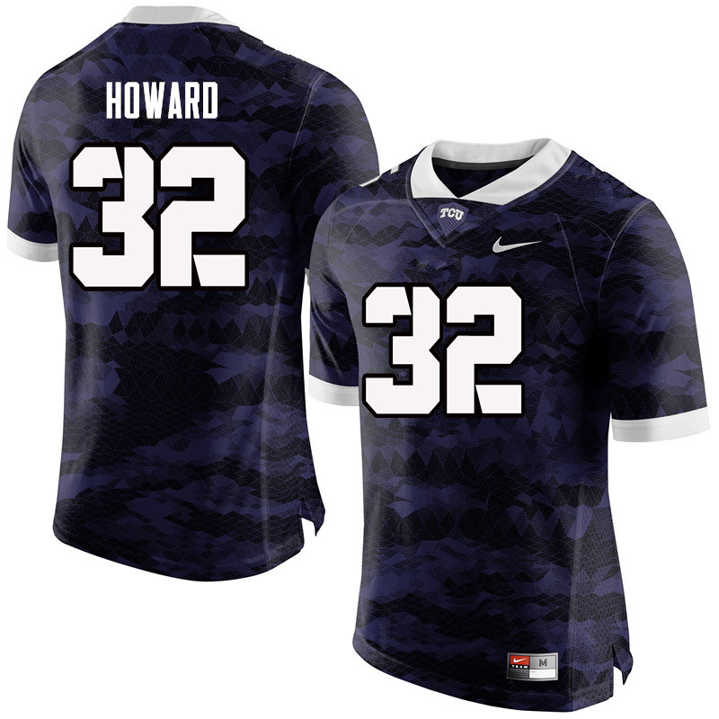 Men #32 Travin Howard TCU Horned Frogs College Football Jerseys-Purple