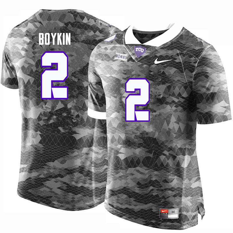 Men #2 Trevone Boykin TCU Horned Frogs College Football Jerseys-Gray