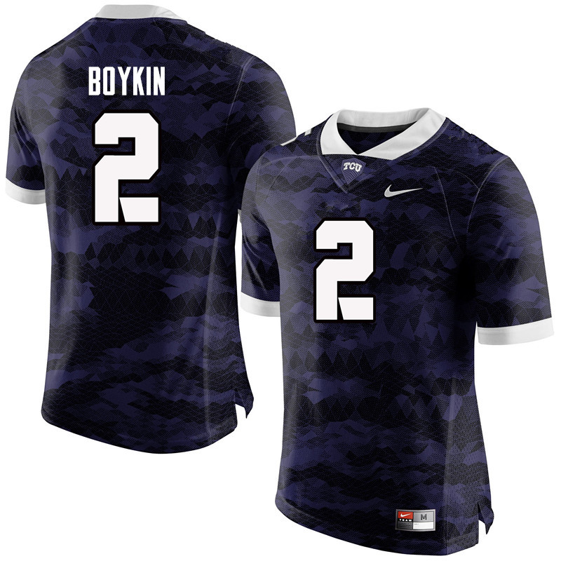 Men #2 Trevone Boykin TCU Horned Frogs College Football Jerseys-Purple