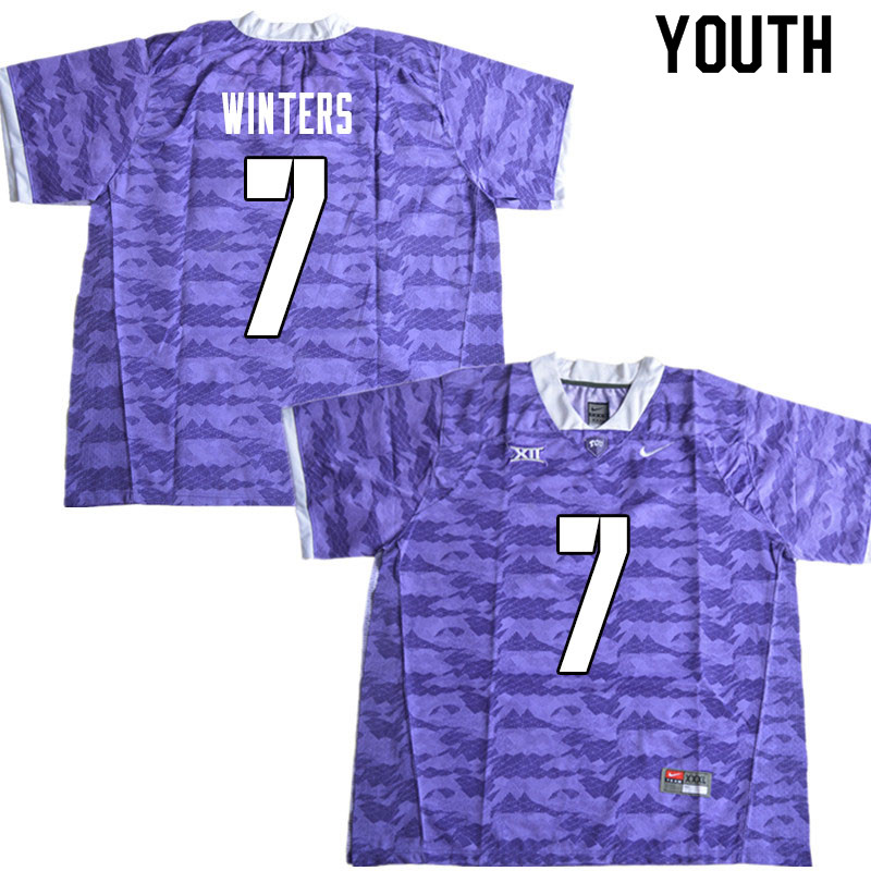 Youth #7 Dee Winters TCU Horned Frogs College Football Jerseys Sale-Limited Purple