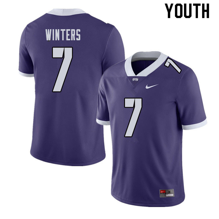 Youth #7 Dee Winters TCU Horned Frogs College Football Jerseys Sale-Purple