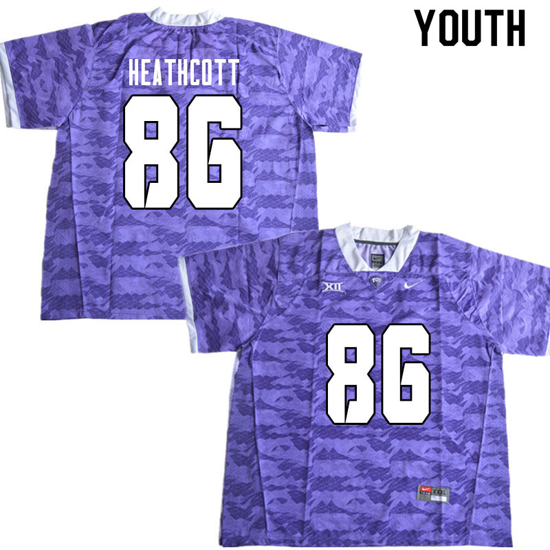 Youth #86 Jack Heathcott TCU Horned Frogs College Football Jerseys Sale-Limited Purple