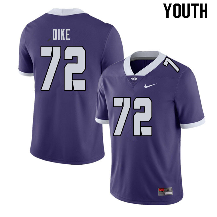 Youth #72 Kris Dike TCU Horned Frogs College Football Jerseys Sale-Purple