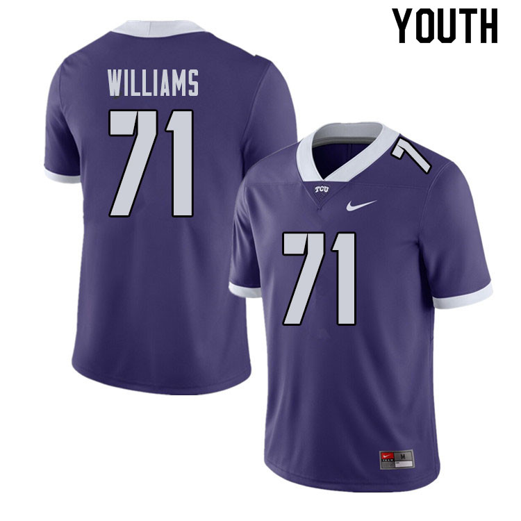 Youth #71 Marcus Williams TCU Horned Frogs College Football Jerseys Sale-Purple