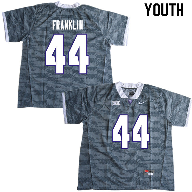 Youth #44 Michael Franklin TCU Horned Frogs College Football Jerseys Sale-Gray