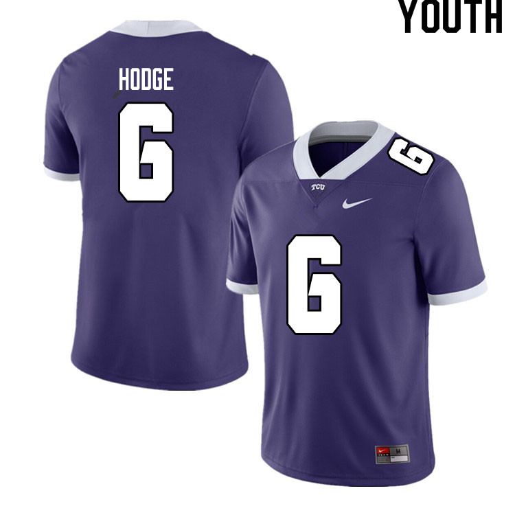 Youth #6 Jamoi Hodge TCU Horned Frogs College Football Jerseys Sale-Purple